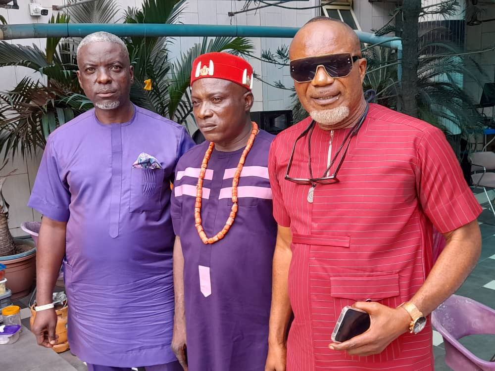 L-R: Mr. Nonso Onwuamaegbu, General Overseer; Chief Chinedu Ndukwe, member; and Barrister Tahill Ochi, founding member, all of Crusaders Club of Nigeria during their 2021 National Convention held in Lagos recently