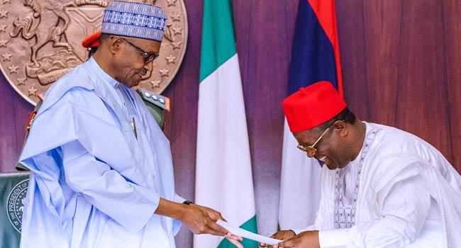 Buhari and South East Gov Dave Umahi