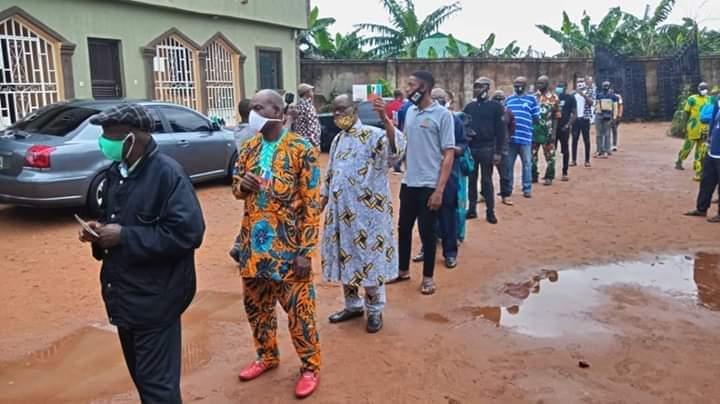 Voters in Edo election
