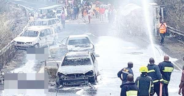 17 Died In Osun Tanker Fire Lagos–Ibadan Expressway Delta Crashes