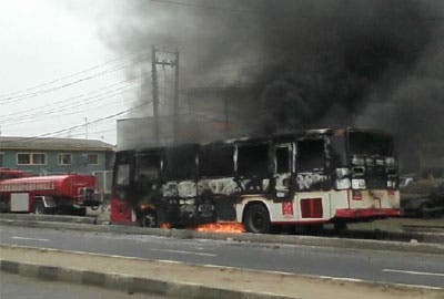 lagbus on fire