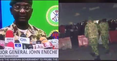 the videos you saw were photoshopped defense spokesman major gen john eneche video