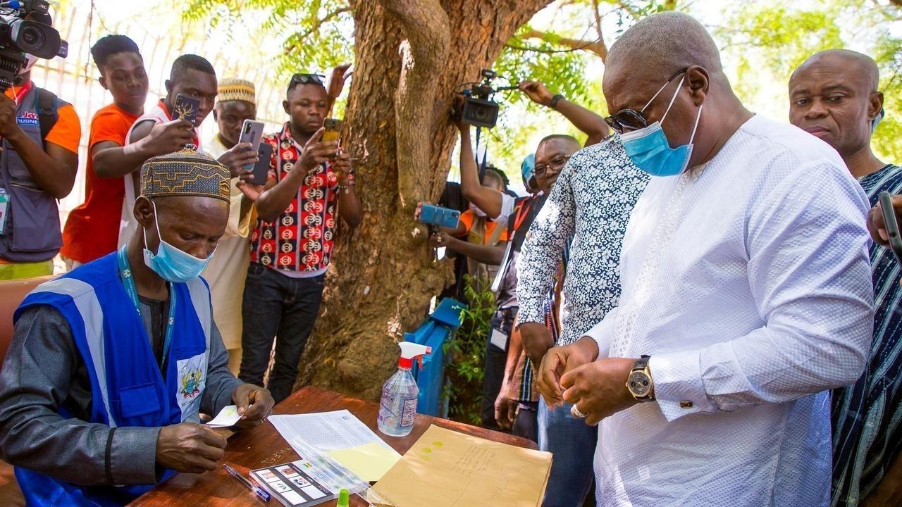 Ghanas opposition candidate John Mahama