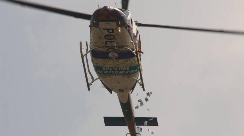 Nigeria Police Aerial helicopter surveillance