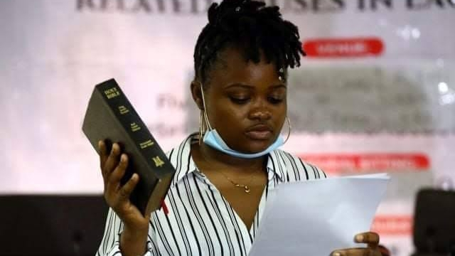 Rinu Oduala a youth representative on the Lagos State Judicial Panel of Inquiry