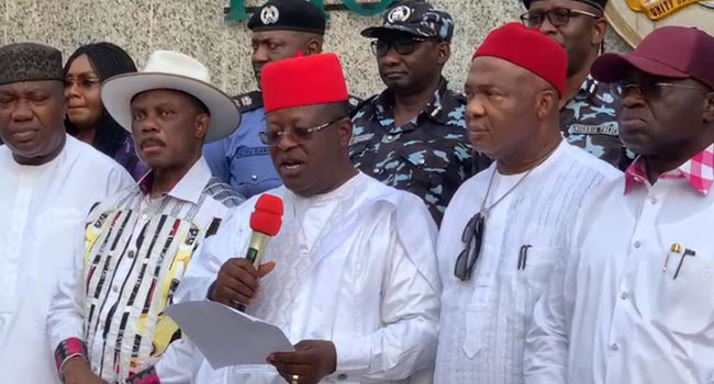 Just In: South-East Governors Establish Joint Security Outfit, 'Ebube Agu'