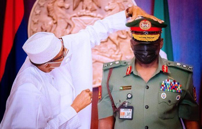 President Buhari and General Attahiru 696x459 1